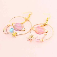 Dreamy Fantasy Galaxy Earrings - Life with Alyda Cute Jewelry, Body Jewelry, Jewelry Box, Jewelry Accessories, Fashion Accessories, Women Jewelry, Fashion Jewelry, Wedding Accessories, Jewlery