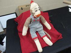 "Vintage Sock Monkey Doll w Overalls 21"" Classic | eBay"