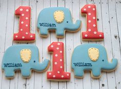 First birthday cookies by Miss Biscuit