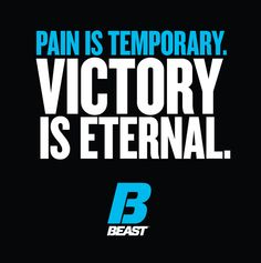 """Pain Is Temporary. Victory Is Eternal."" #Fitness #FitnessQuotes #FitnessInspiration"
