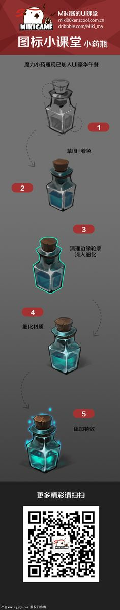 How to draw a Little flask with a poison - Step by step - Drawing Reference