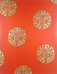 Chinese stencil pattern.