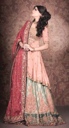 Check out New year treat of bridal dresses 2012 by Pakistan top 3 designers named Mehdi, HSY and nilofer shahid. Have a look Walima Dress, Pakistani Wedding Dresses, Pakistani Outfits, Indian Dresses, Indian Outfits, Pakistani Clothing, Bollywood Wedding, Beauty And Fashion, Desi Clothes