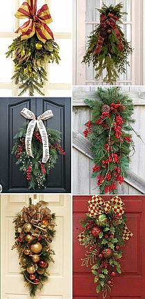 Elegant christmas stunning ornament and crystal christmas swag christmas door swags need to consider when picking out paint color for the front door too solutioingenieria Choice Image