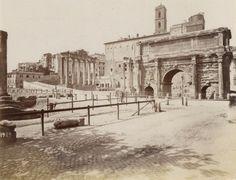 Arco di Settimio Severo Circa 1875