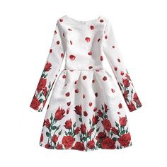 Girls Dresses Long Sleeve 2017 Autumn Brand Kids Dress for Girls Clothes Robe Infant Animal Floral Princess Costumes Children Dresses Kids Girl, Kids Outfits, Children Dress, Kids Party Wear, Party Kleidung, Kids Clothing Brands, Children Clothing, Girl Clothing, Baby Dress