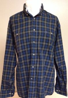 George Strait Wrangler Small Blue Western Long Sleeve Button Front Shirt #Wrangler #Western
