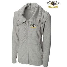 Antigua Baltimore Ravens Women's Leader Full Zip Jacket - White