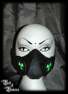 Cyber nose/mouth mask with radioactive design respirator details! £35