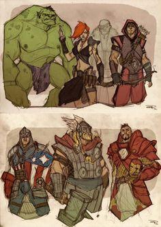 Avengers Fantasy RPG style!