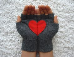 """Aww... VDay gloves. These say """"mom"""" to me more than """"lover,"""" but then """"fingerless gloves"""" would make my husband think of Loney Island's Boombox."""