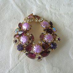 Vintage Juliana Rhinestone /Baroque Pearl Brooch Pin