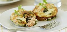 Low carb crustless spinach and smoked trout tartlets | Food24