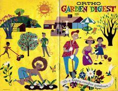 Garden Digest: illustration by Wyatt Wallace | Mid-Century Modern Graphic Design