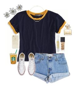 hidden sunshine by gabyleoni on Polyvore featuring polyvore, fashion, style, American Eagle Outfitters, Levi's, Converse, Jennifer Zeuner, Forever 21, NARS Cosmetics, Marc Jacobs, MILK MAKEUP and clothing