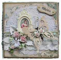 pipserier: Card with frame. Beautiful