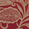 Odile Fabric - a woven fabric in red and pale gold with a design of a trail of stylised flowers and foliage.