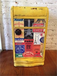 How to Use Old Maps or Pretty Paper to Refinish Furniture
