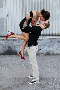 kiss - tattoo - inked love