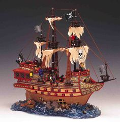 Lemax Spooky Town Haunted Galleon with Adapter. pirate section
