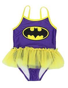 207683d4b4156 Toddler Girls  Batgirl Swimsuit