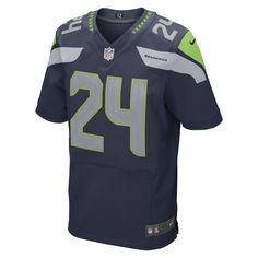 871db6ff8 Nike NFL Seattle Seahawks (Marshawn Lynch) Men s Football Home Elite Jersey  Size 60 (Blue) - Clearance Sale