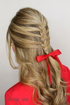 half up brigitte bardot mermaid braid missy sue blog Brigitte Bardot Mermaid Braid