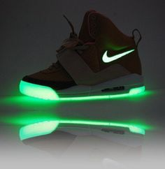 Nike Air Yeezy Glow In The Dark Sneakers