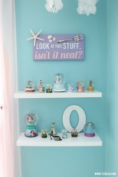 mermaid bedroom A little girl's dream Mermaid Room complete with nautical sea friends and bubble chandelier!