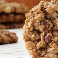 Copycat Girl Scout Trio Gluten Free (no flour) Cookies-PB, egg, sugar, chocolate chips & whole Grain Oats.
