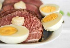 Főtt sonka Hungarian Recipes, Hungarian Food, Easter Recipes, Steak, Eggs, Beef, Cooking, Breakfast, Van