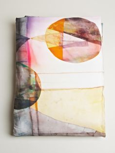 decke, von sono; looks like a fabric journal cover, beautiful layers.