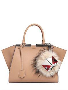 FENDI - BAG BUGS FOX FUR & PERSPEX MONSTER CHARM - OFF WHITE