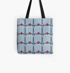 Cardiac Rhythms, Cotton Tote Bags, Reusable Tote Bags, Cardiac Nursing, Gabel, Nurse Gifts, Classic T Shirts, Printed, Awesome