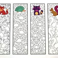 Printable Zentangle Bookmarks - Web page 4 - Scribble & Sew - Cute Animals, . Colouring Pages, Coloring Sheets, Adult Coloring, Art For Kids, Crafts For Kids, Arts And Crafts, Paper Crafts, Ecole Art, Cute Dinosaur