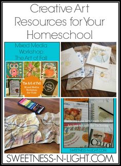 Art & Creativity Resources for Your Homeschool | Sweetness-n-Light via @Cheremere #ihsnet #linkup #art #resources