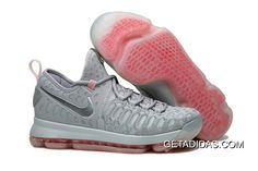 a9702998979c Nike Kd 9 Grey Silver Red White TopDeals