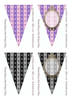 Wings of Whimsy: Stars N Stripes Customizable Bunting - free for personal use #vintage #victorian #printable