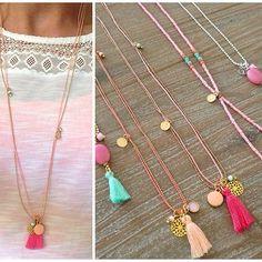 Kleurrijke kettingen  www.mint15.nl  #ketting #kettingen #necklace #necklaces #jewelry #handmade #kleurrijk #colorful #sieraden #armbanden #mint15
