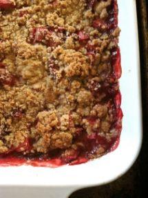 Rhubarb-Strawberry Crisp, Gluten-Free. Courtesy of Shauna Ahern, A.K.A. Gluten Free Girl