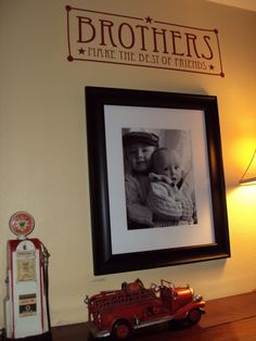 take a pic of just my boys and display it in their room.. Such a cute idea!