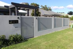 We are the leading suppliers of quality fencing. Fence Wall Design, Modern Fence Design, Gate Design, Front Gates, Front Fence, Compound Wall Design, Sliding Door Design, Backyard House, Small House Design