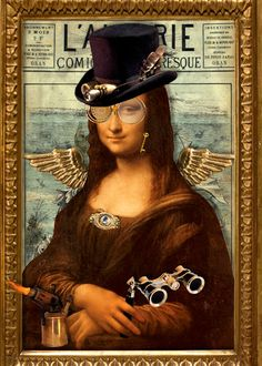 Funny Mona Lisa Steampunk - This would actually be easy to do........