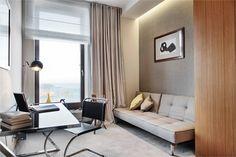 mieszkanie A284 - Sea Towers - Apartamenty pokazowe - Galeria - Invest Komfort Flooring, Floor Chair, Decor, Apartment, Furniture, Curtains, Chair, Home, Home Decor