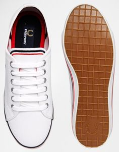 separation shoes 76a41 5a70a Fred Perry Kingston Twill White Trainers at asos.com