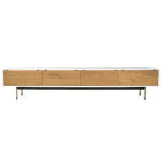 Valencia TV4 Cabinet - 2 Folding Doors & 2 Drawers (Beech)