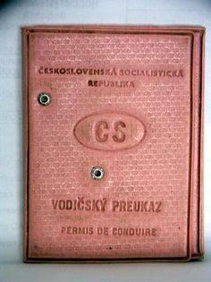 vodičský preukaz Retro 2, Prague, Old Photos, Childhood Memories, Poland, How To Make, Pictures, Places, Driver's License