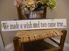 Twins Nursery Sign. $26.95, via Etsy.  I want!,  Go To www.likegossip.com to get more Gossip News!
