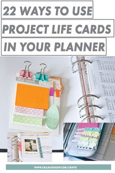 Got Project Life Cards? In fact, got a whole bunch? Check out these 22 Ways to use Project Life Cards in Your Planner and paper crafts, and stop hoarding and start using them!