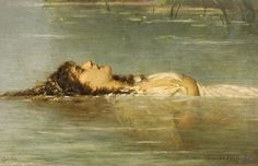 "Theodor von der Beek (1838 - 1921), ""Ophelia"" 